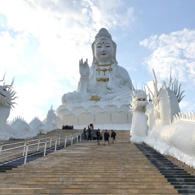 チェンライの巨大観音像で有名なお寺「Wat Huay Pla Kang」