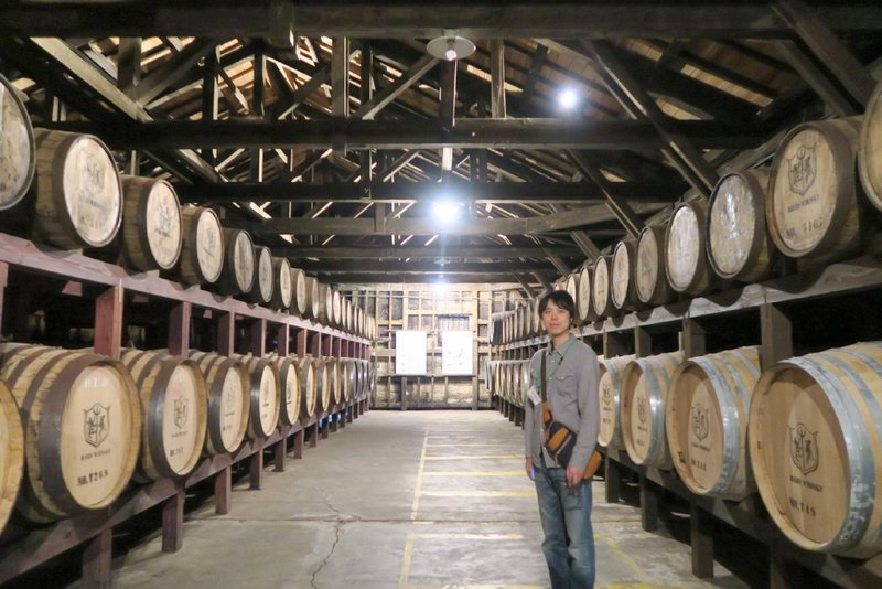 本坊酒造マルス津貫蒸溜所でウイスキー製造工程を見学しました。