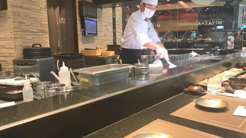 セントラルフェスティバルパタヤ内にあるレストラン「鉄板焼宮崎(Miyazaki - Japanese Teppan Dining)」